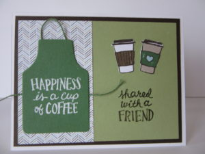 Apron of Love card, Starbucks gift card holder
