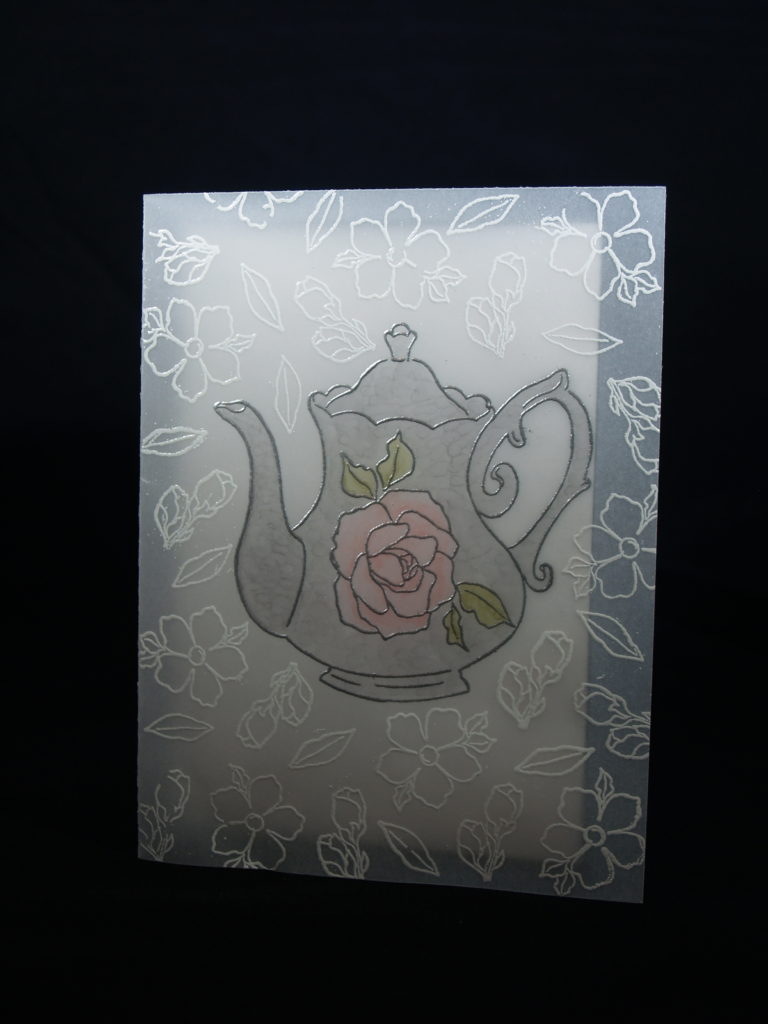 vellum card using Tea Together stamp set