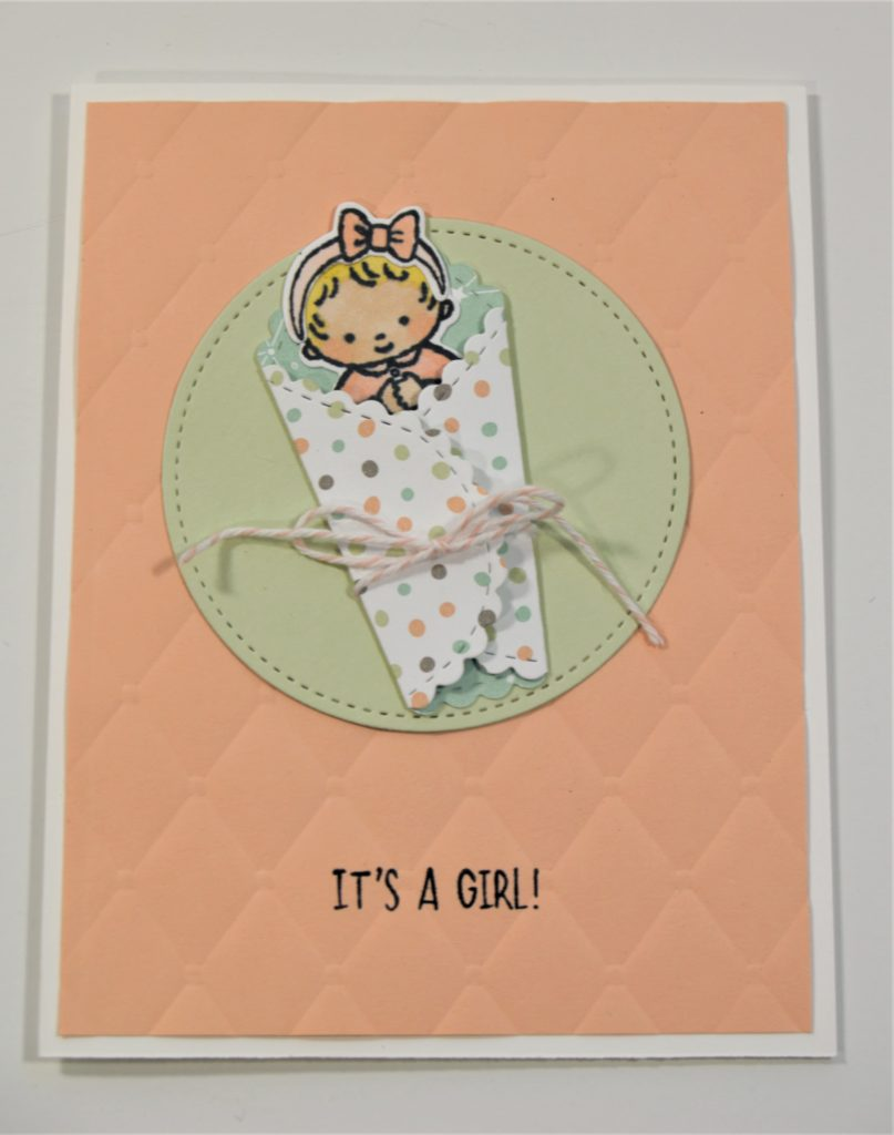 sweet baby girl card